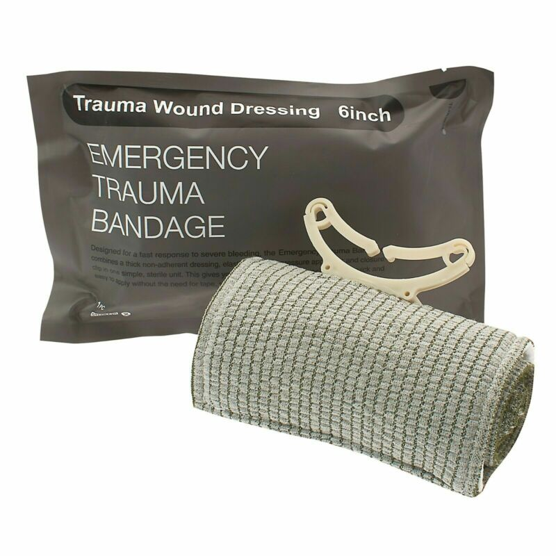"""10 Pcs Trauma Bandage 6"""" Emergency Military Style Battle Wound For First Aid"""