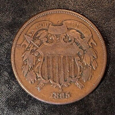 1865 Two Cent Piece - High Quality Scans #G783
