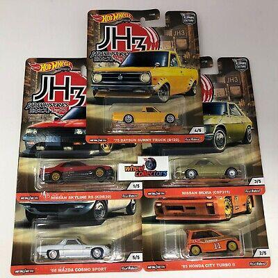 5 Car Set * 2020 Hot Wheels Japan Historics 3 Car Culture Case P