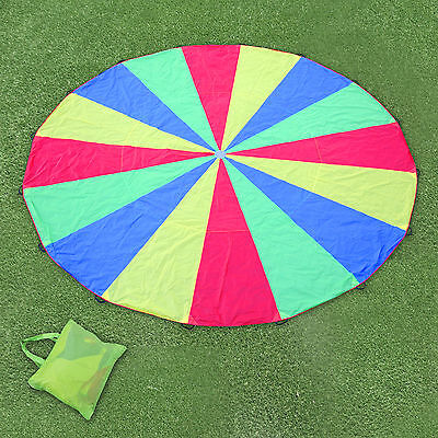 20FT Play Parachute Large Kids Children Colorful Outdoor Game Exercise Sport Toy