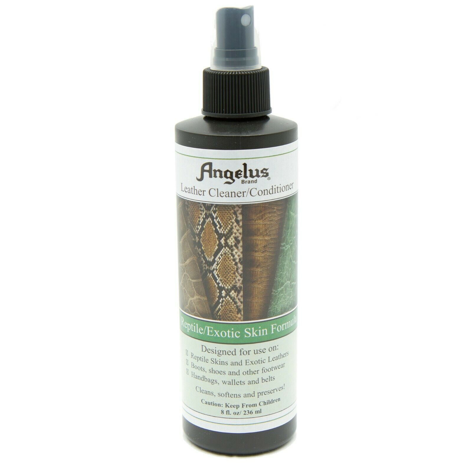 Angelus Reptile/Exotic Skin Leather Cleaner/Conditioner 8oz Pump Clothing & Shoe Care