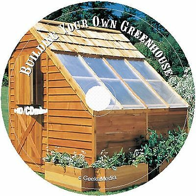 Greenhouse Plans 6 Books cd homesteading preppers garden