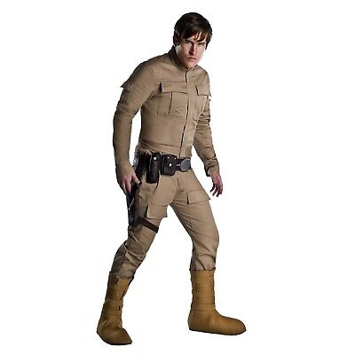 Men's Luke Skywalker Dagobah Star Wars Halloween Costume Pants Jacket XS-XL](Star Wars Costumes Luke Skywalker)