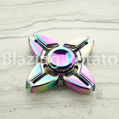 RAINBOW Hand Spinner Tri Spinners Figet Desk Toy Focus EDC ADHD -NEW- ☆USA☆ #I