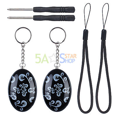 Self Defense Keychain Siren Song Survival Whistle Personal Emergency Alarm Black