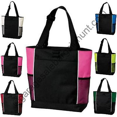 Sturdy Zipper Tote Bag Book Shopper Teacher Nurse Gym Handbag Purse Diaper - Nurse Purse