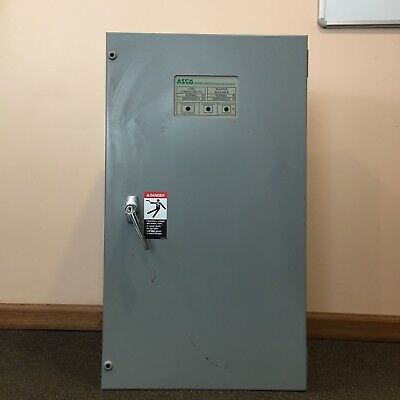 Asco Series 300 Automatic Transfer Switch 200 Amps 208 Volts 3 Phase