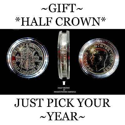 BIRTHDAY 70TH COIN, ORIGINAL OLD HALF CROWN IDEAL FOR SMALL GIFTS. PRESENTS... ()