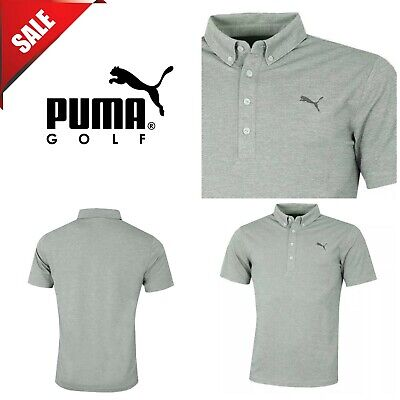 Puma Golf Mens Oxford Heather dryCELL Short Sleeve Polo Shirt New Wreath Heather