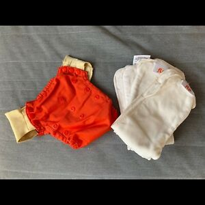 Flip One size cloth diaper with 3 inserts