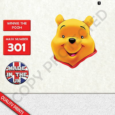 Winnie The Pooh Costumes For Halloween (winnie the pooh CARD FACE MASK MASKS FOR PARTY FUN HALLOWEEN FANCY DRESS)