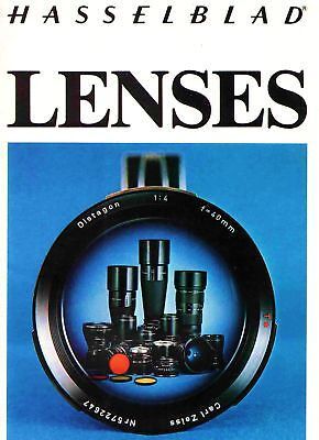 HASSELBLAD CAMERA LENS BROCHURE -30 FISHEYE to 500mm TELEPHOTO--from 1977-LENSES