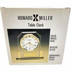 Howard Miller Quartz Alarm Table Clock - Model 613-573 - New in Box