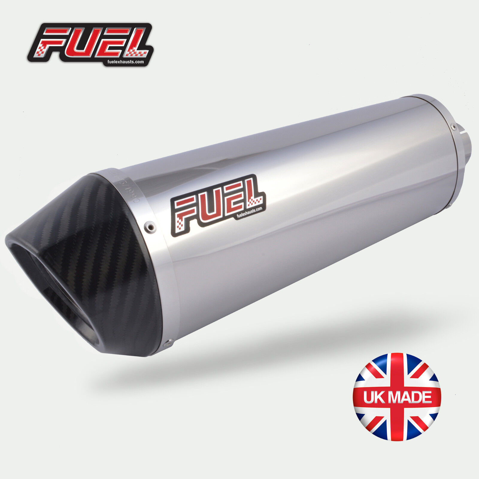 Thundercat 600 Diablo Polished S/S Oval Midi UK Road Legal Exhaust + Carbon Tip