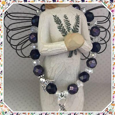 Lupus Awareness Angel Bead   Hope Charm Stretch Bracelet