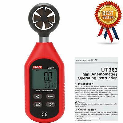 Uni-t Ut363 Digital Mini Wind Air Speed Meter Anemometer Speed Temperature Te