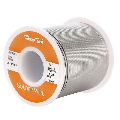 60-40 Tin Rosin Core Solder Wire Electrical Soldering Sn60 Flux .0391.0mm 1lb