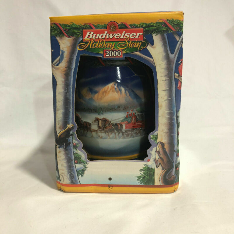 BUDWEISER 2000 Holiday in Mountains Beer Stein Mug CS416 Collectible Decor