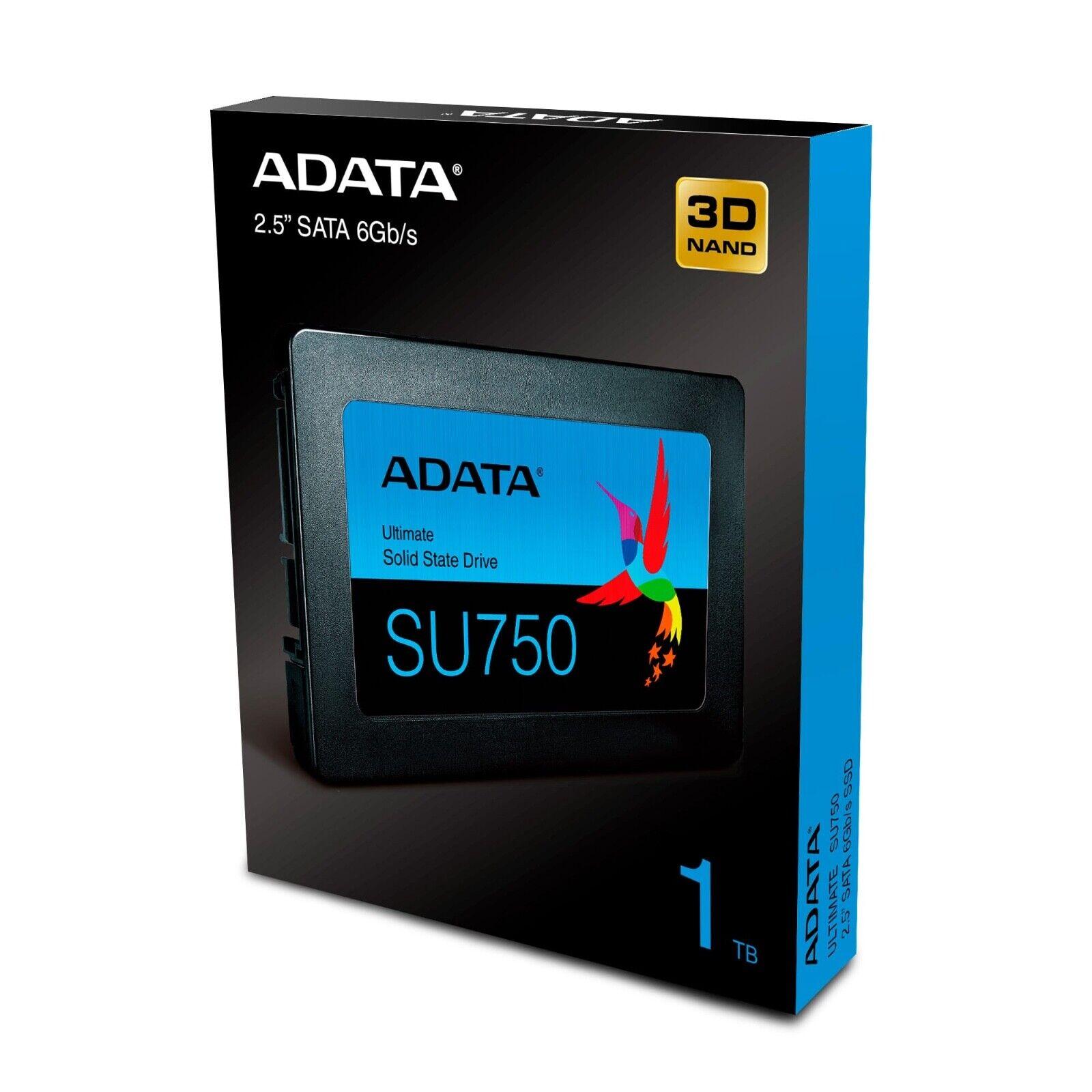 """ADATA 1TB SSD SU750 2.5"""" SATA III 3D NAND TLC Internal Solid"""