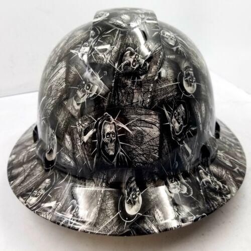 Custom Ridgeline WideBrim Hard Hat OSHA Hydro Dipped AMERICAN MONEY DEAD HEADZ 1