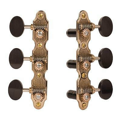 Pearloid knobs Sloane Classical Guitar Machines with Stippled Bronze Baseplates