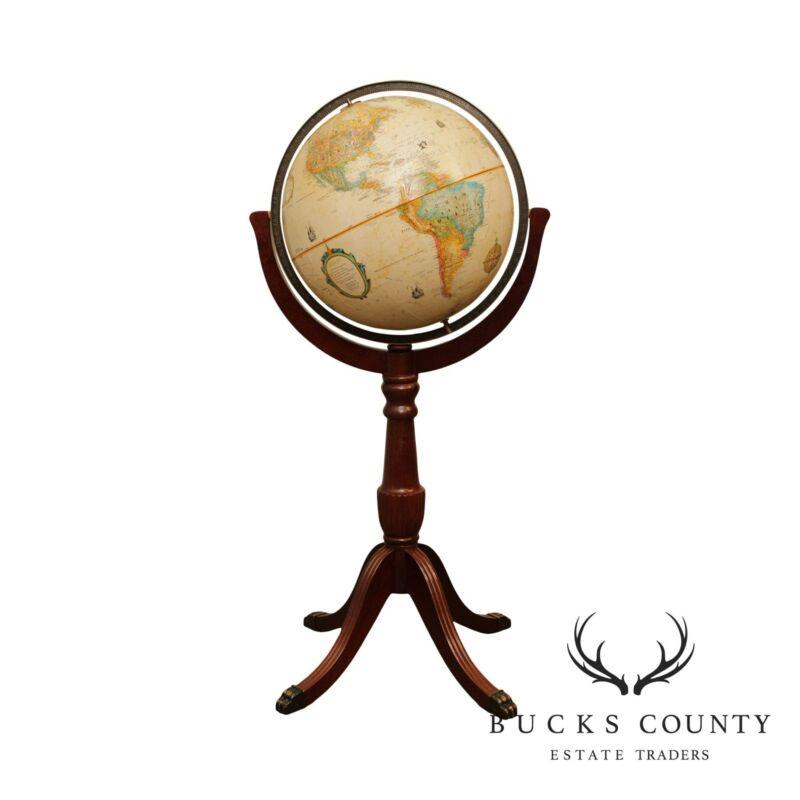 Brandt Mahogany Pedestal Replogle 16 Inch Globe