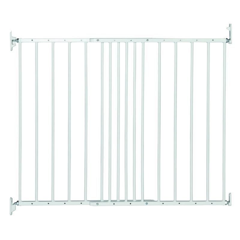 BabyDan MultiDan Wall Mount 24.6-42 Inch Doorway Safety Baby Gate, White Metal
