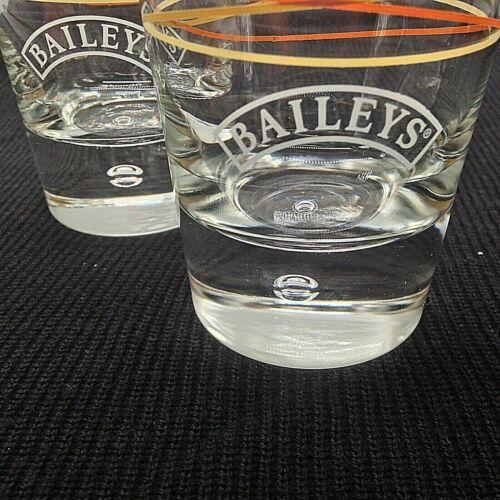 Baileys Original Irish Cream Rocks Glasses, Bubble Mark Heavy Base.Set of 2.