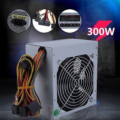 300 W Watt Power Computer PC Netzteil 4 x SATA connectorsLüfter leise Neu DE