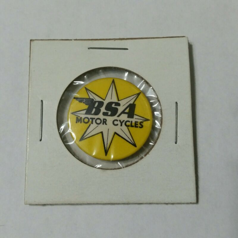 ~RARE~ ORIGINAL VINTAGE BSA MOTOR CYCLES MOTORCYCLES PINBACK PIN BACK BUTTON