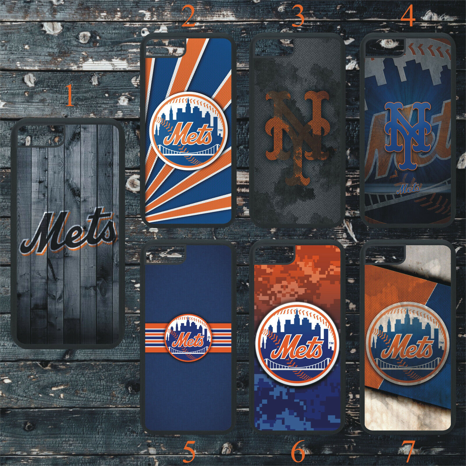 NEW YORK METS PHONE CASE COVER FITS iPHONE 7 8 X 11 SAMSUNG