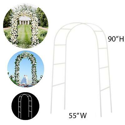 """NEW!! 90"""" WHITE METAL ARCH - Wedding Party Bridal Prom Garde"""