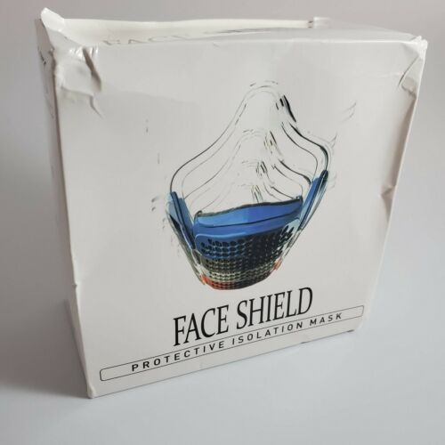 New Splash-proof Face Shield Safety Clear Face Protection Isolation Masks BLUE