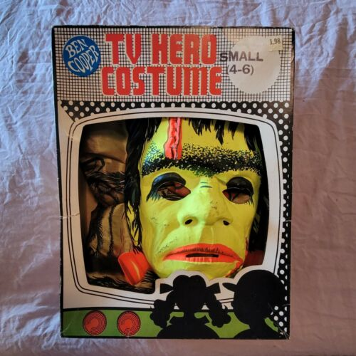 Vintage Ben Cooper Frankenstein TV Hero ventilated mask with box (no costume)