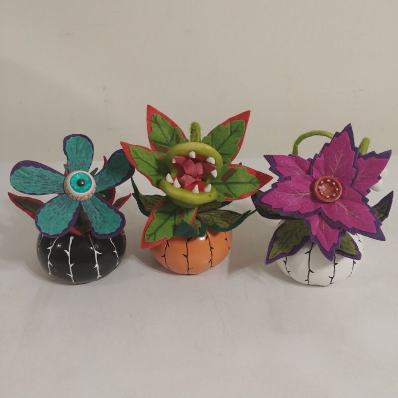Hyde and Eek! Inspired Ghoulish Garden Halloween Creepy Succulent 3-Pack
