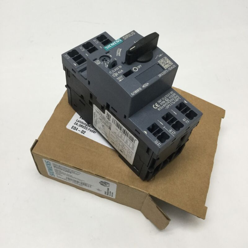 Siemens 3RV2011-1DA20 Sirius Motor Starter Circuit Breaker 3-Pole, 2.2-3.2A, S00