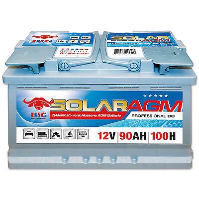 Solarbatterie AGM 12 V 90 Ah (100h) BIG DC Antrieb Versorgungsbatterie Boot online kaufen
