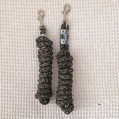 """Yacht Rope Lead Line Brown Black 6' 7' long 5/8"""" thick Lot of 2"""