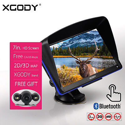 """XGODY 7"""" 8GB Truck Car GPS Navigation Lorry with Wired Reverse Backup Camera"""