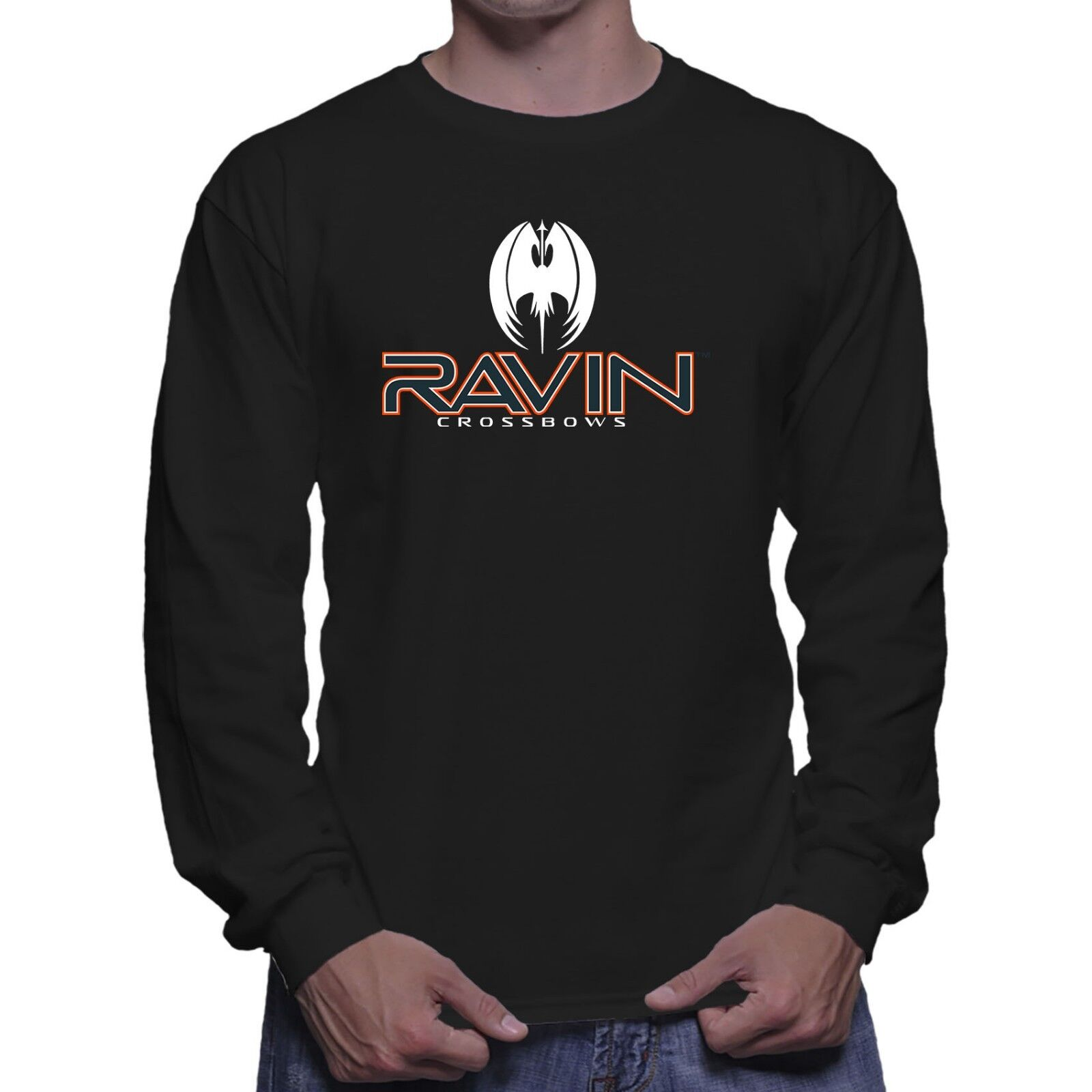 Ravin Crossbow Hunting Long Sleeve Black T-shirt Size S To 5