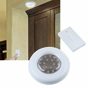 closet lighting battery. Cordless Wall Or Closet Light With Remote Switch Battery Operated Lighting T