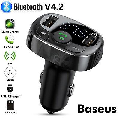 Baseus Wireless Bluetooth FM Transmitter Car 2 USB Charger A