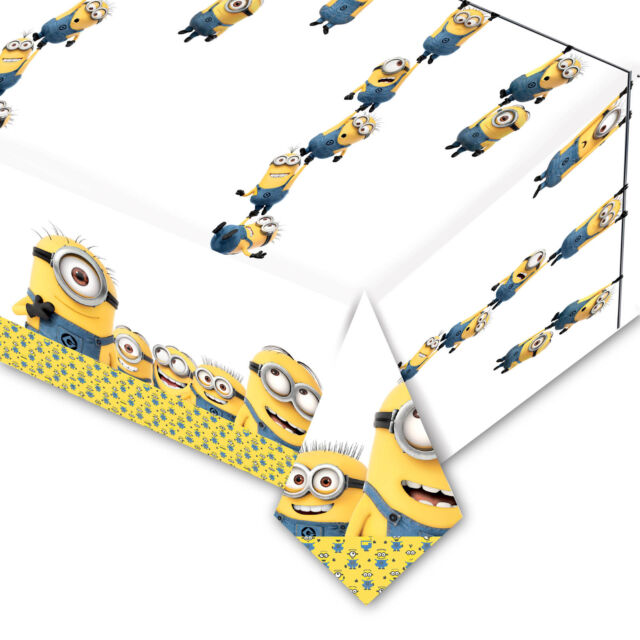 1.2mx1.8m Official MINIONS Movie Children's Party Disposable Plastic Table Cover