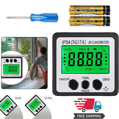 0-360digital Inclinometer Level Box 490 Angle Finder Bevel Gauge Protractor