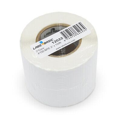 Labels For Primera Lx400 Printer 3 Continuous Label Rolls 100 Ft Matte Blank...