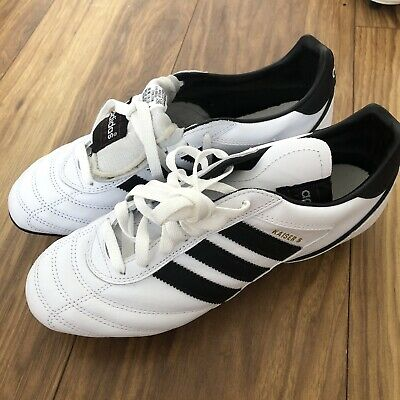 Adidas Kaiser Football Boots In White UK size 7.5