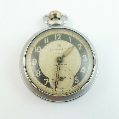 Vintage Ingersol Ltd. London Triumph - Open Face Pocket Watch - Spare & Repair