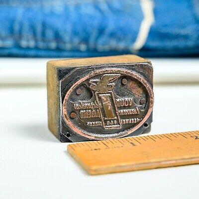 Independent Insurance Agt Sm 1.5x 1.25 Vintage Letterpress Printers Block