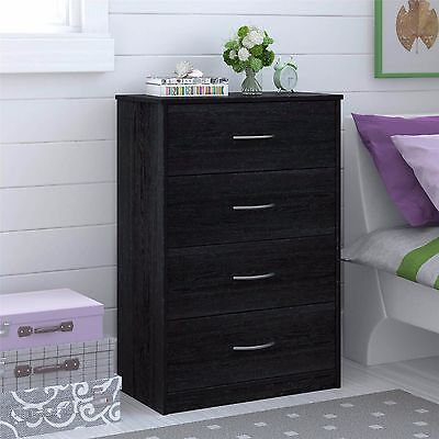 كومودينو جديد Bedroom Storage Dresser Chest 4 Drawer Modern Wood Furniture ASSORTED Colors New