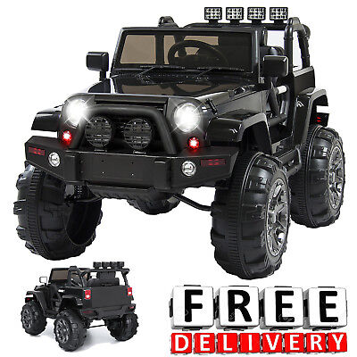 Battery Powered Jeep 12V Toddler Ride On Toys Remote Electric Light Kid Truck